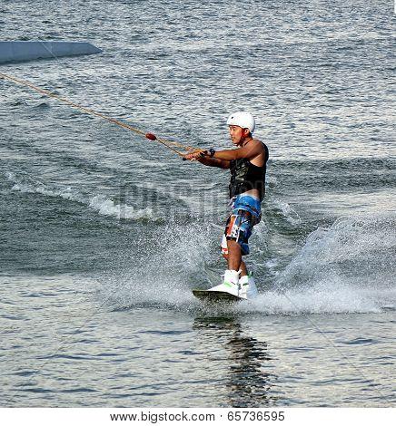 Wakeboarding On The Lotus Lake