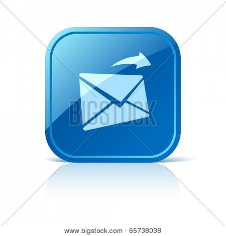 Mail icon on blue web button