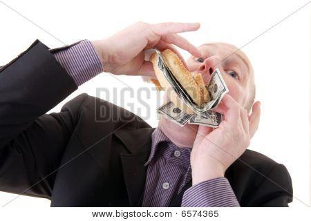 Greed Avarice Consuming Dollars