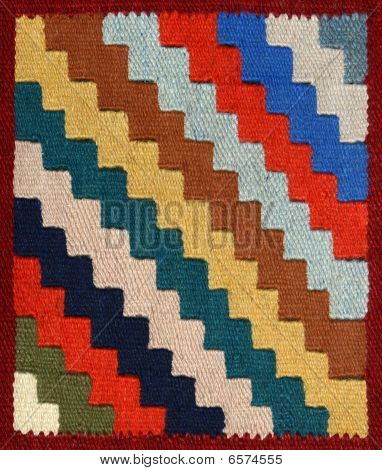 Carpet Fabric Pattern With Bright Geometrical Ornament