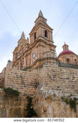 View of Parish Church - Mellieha, Malta poster