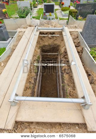 Uncovered Grave