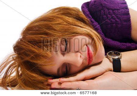 Sleeping Red Girl