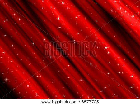 Red Material With Stars