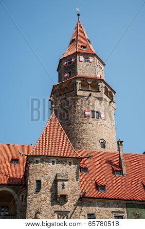 BOUZOV, CZECH REPUBLIC, AUGUST 01, 2009 - Fairytale Castle Bouzov