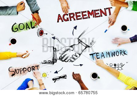 Group of Business People Planning Strategy