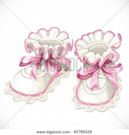 Baby pink booties