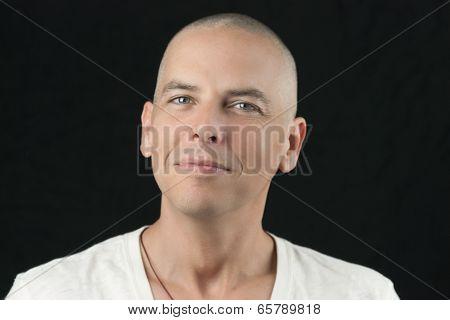 Newly Shaved Head, To Camera