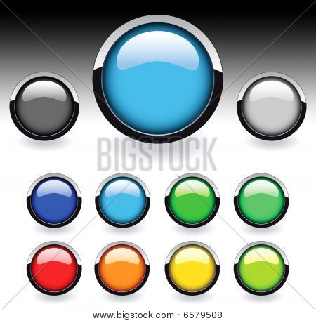 Glossy web buttons set