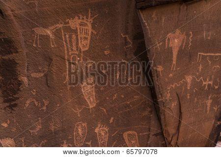 Indian Petroglyphs On Birthing Rock