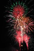 Large fireworks - traditional celebration of New Year. poster