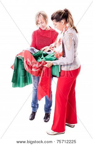 Seamstresses Choosing The Fabric
