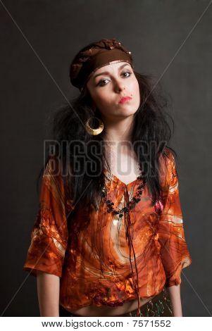 Tired Gypsy Woman