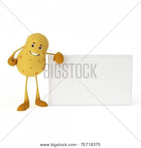 3d rendered illustration of a food character - potato