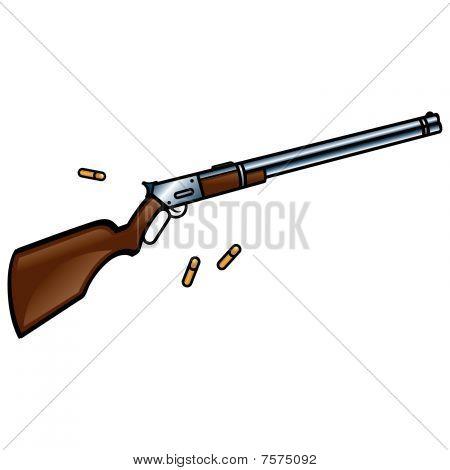 Rifle - gun and bullets