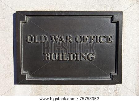 Old War Office Building In London