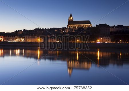 Blois At Night, Loire Et Cher, Centre, France
