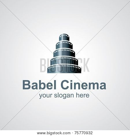 Babel Cinema Vector Logo Design