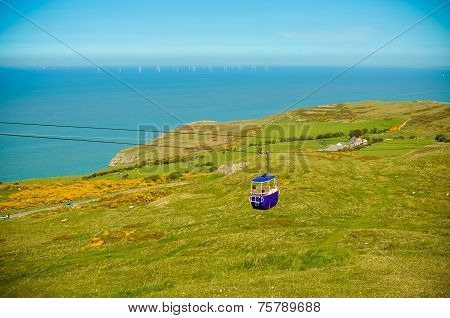 Breathtaking views from the Great Orme in Llandudno Gwynedd North Wales. poster
