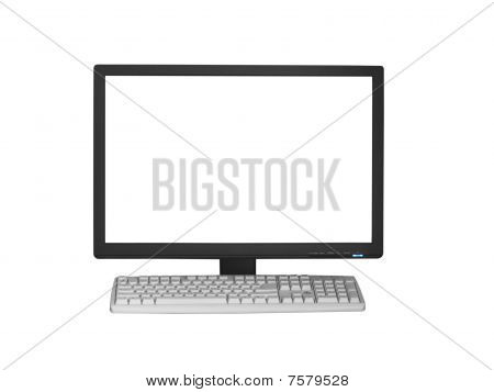 The Monitor And The Computer Keyboard
