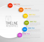 Vector Infographic timeline report template with icons poster