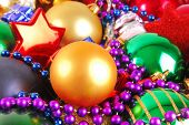 close up of the christmas bauble background poster