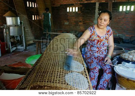 Asian Woman, Vietnamese Rice Paper