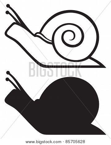 Snail silhouette