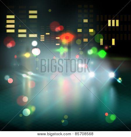 blured lighhts in city night