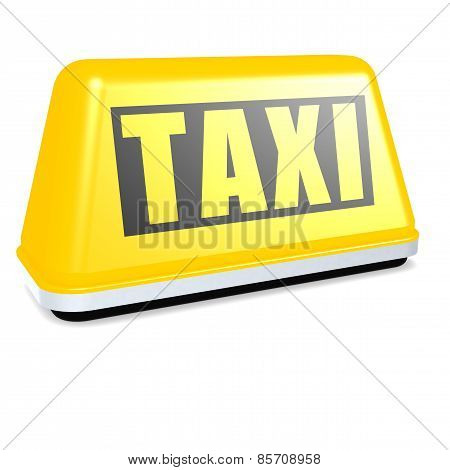 Taxi car sign and telephone