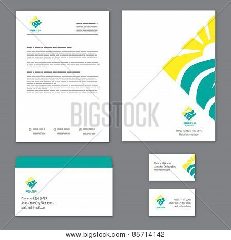 Corporate identity template Tourism