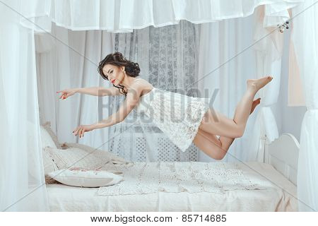 Levitation Over The Bed.
