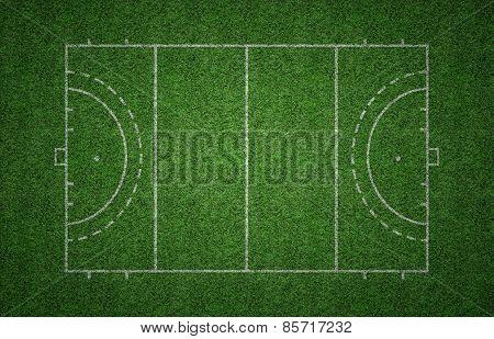 Grass Field Hockey Pitch