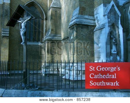 Facade of St Georges Cathedral Southwark, London