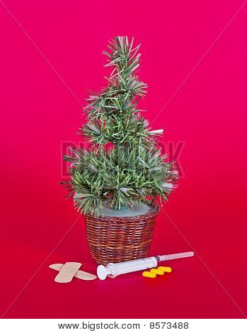Small Christmas Tree With Medical Equipment