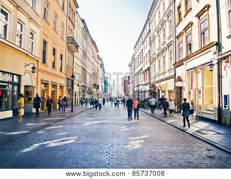 People Goes By Florianska Street