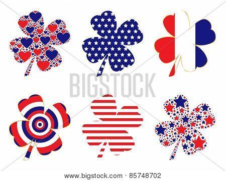 Patriotic Clovers
