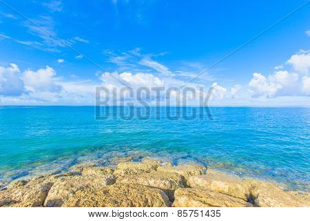 Sea and clouds in Okinawa