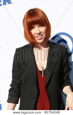 LOS ANGELES - MAR 14:  Carly Rae Jepsen at the Comedy Central Roast of Justin Bieber at the Sony Pictures Studios on March 14, 2015 in Culver City, CA