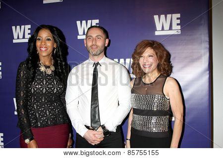 LOS ANGELES - MAR 19:  Yvonne Capehart, Christopher Donaghue, Fran Walfish at