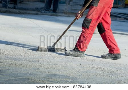 Cleaning Construction Site