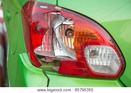 Broken  rear lights car.