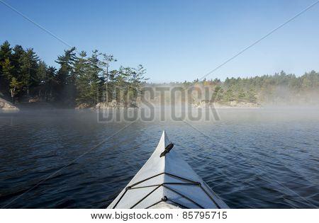Kayaking With Morning Fog
