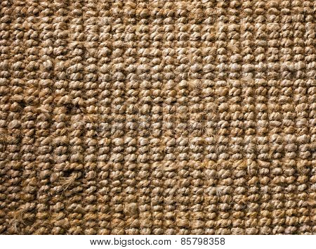 the background of natural sisal jute canvas poster