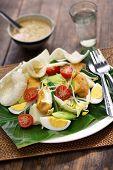 gado gado, indonesian salad with peanut sauce poster