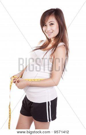 Pregnant Measur Belly Happy