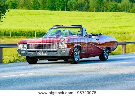 Red Buick Skylark 1968