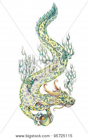 Tattoo, Dragon Retaining The Pearl