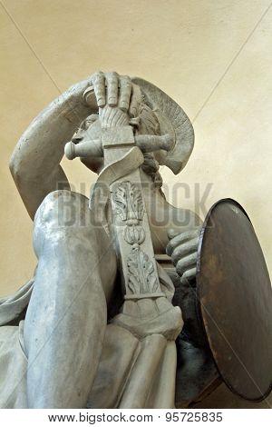 God of War, Mars, stone statue at Brandenburg, Berlin