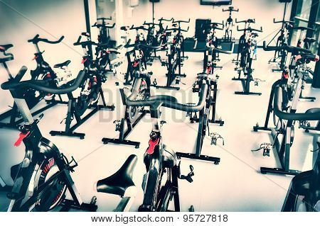 Spinning Class With Empty Bikes